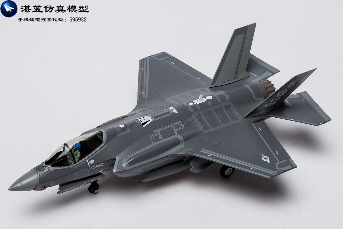 Brand New 1/72 Scale Airplane Model Toys USAF F-35A F35 Lightning II Joint Strike Fighter Diecast Metal Plane Model Toy For Gift jc wings xx4362 atr 72 hb acb 1 400 etihad airways commercial jetliners plane model hobby