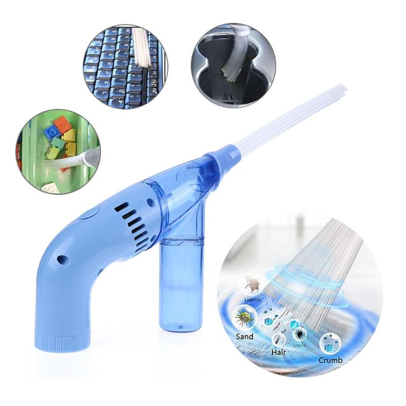 Portable Mini Handheld Vacuum Cleaner Home Duster Cleaning Brush Dirt Remover Multi-use Cleaning Brushes Gun Kitchen Supplies