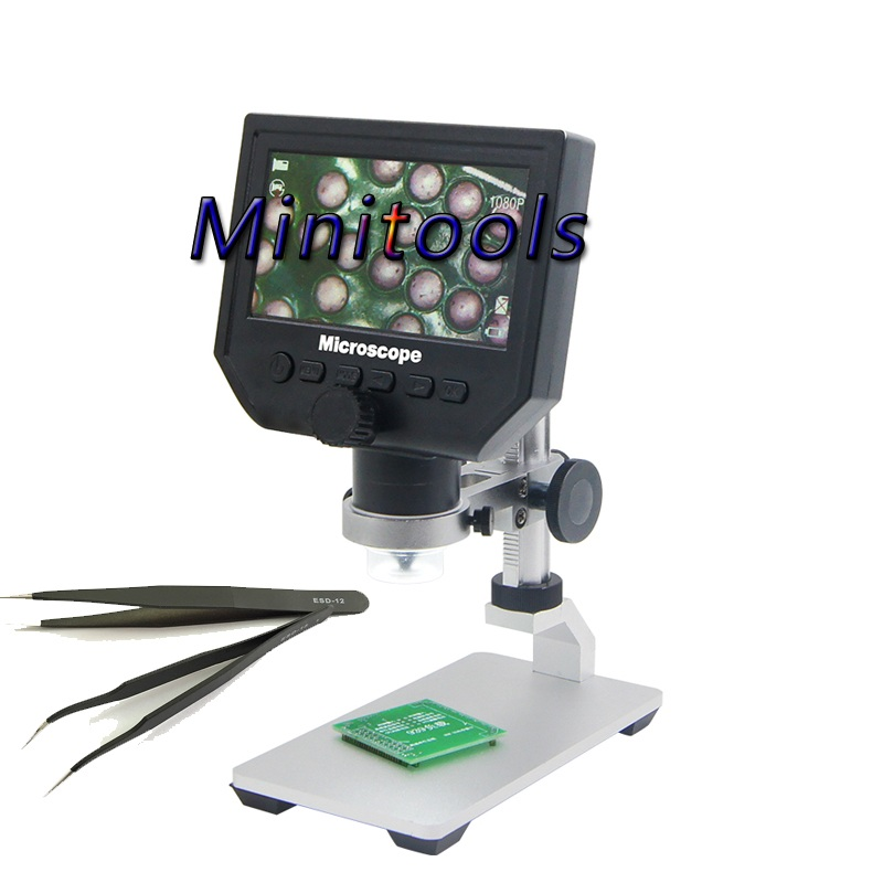 G600 3.6MP 1-600X Portable USB Digital Electronic Microscope 4.3 Display with Aluminum alloy Holder with ESD12 /15 tweezer freeG600 3.6MP 1-600X Portable USB Digital Electronic Microscope 4.3 Display with Aluminum alloy Holder with ESD12 /15 tweezer free