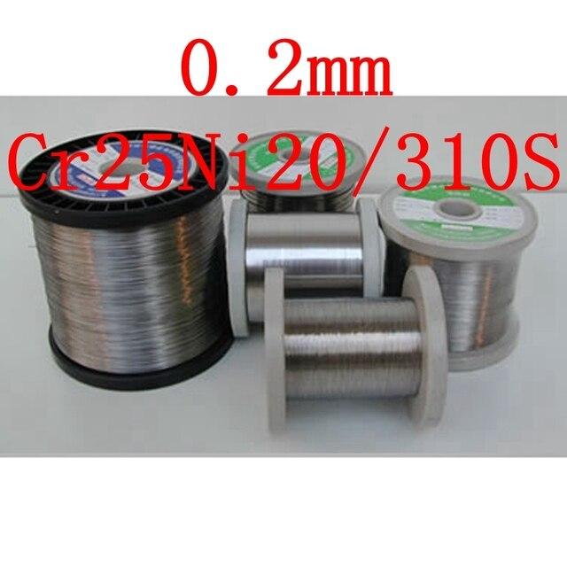0.2mm, Authentique Cr25Ni20/310/310 s fil, nichrome Résistance Nickel Chrome Chauffage Élément De Coupe Chaude seul rouleau fil