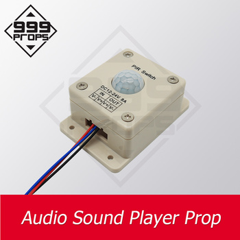 Audio sound player prop game real llive room escape play sound when detect human play audio music to create atmosphere  999PROPS