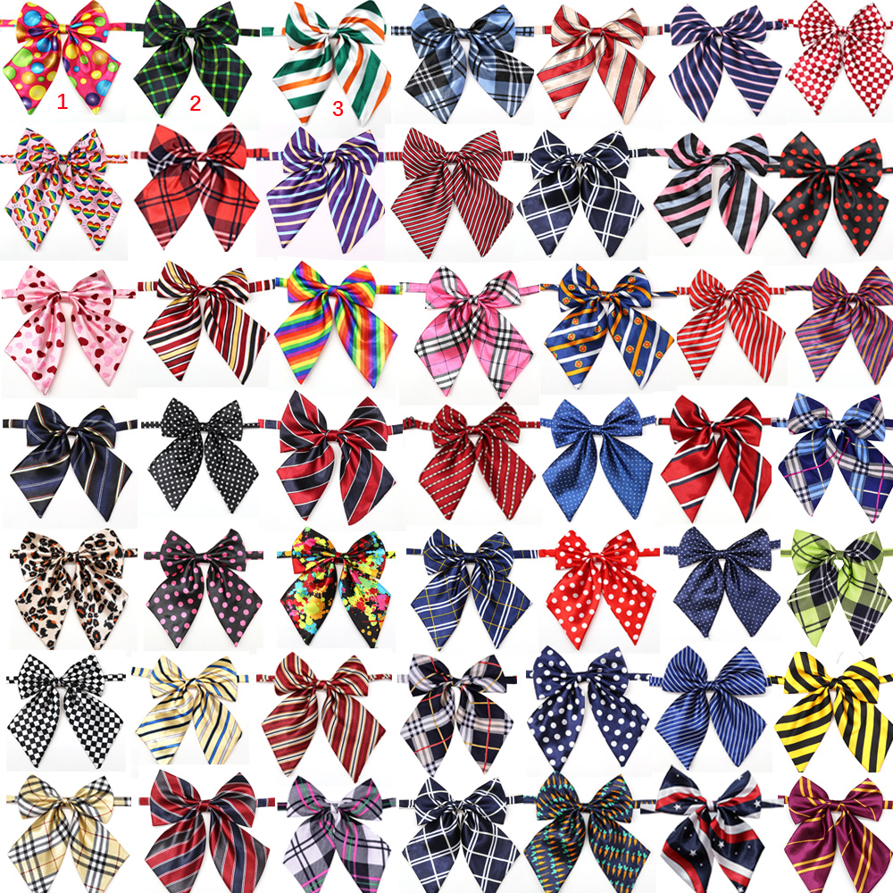 Wholesale 100pcs Dog Accessories Pet Supplies Pet Dog Bowtie Neckties Pet wedding decoration Dog Collar BowTie  50colours-in Dog Accessories from Home & Garden    1
