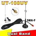 Двухстороннее Радио УКВ SMA Магнитным Мобильный длинные Антенны УТ-108UV для CB Радио Walkie Talkie BAOFENG УФ-5R УФ-B5 УФ-B6 GT-3