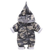 Camouflage Newborn Baby Romper Clothes Winter Thicken Jumpsuit Long Sleeve Infant Boy Girl Fashion Toddler Kids