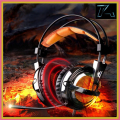 Sades Magic Professional 7.1 Surround Sound USB Vibration Gaming Headset Headphones Stereo Bass Earphones with Mic for PC Gamer