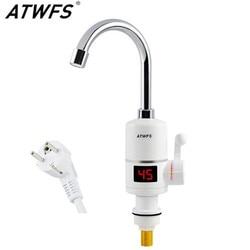 Grifo eléctrico con pantalla de temperatura grifo de calentador de agua eléctrico instantáneo termostato instantáneo rápido para calentador de agua