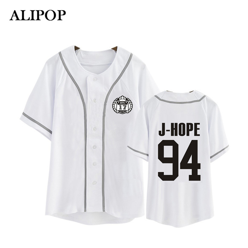 Kpop Korean BTS WINGS Album Blood Sweat &Tears Cotton Cardigan Tshirt K-POP Button T Shirts T-shirt Tops PT479