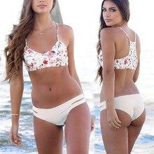 Swimwear Bikinis 2016 Sexy Women's Printed Swimsuit Bandeau Biquinis Summer Bathing Suir Beach Wear