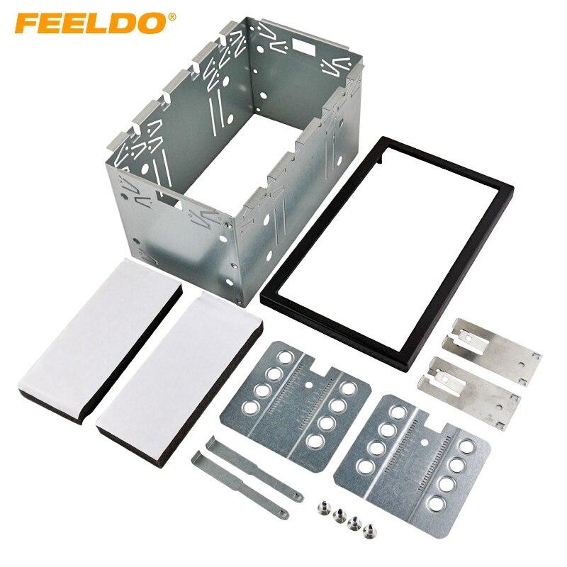 Ford Fiesta 2005 /> Double Din Fascia Panneau Plaque Adaptateur Cage Kit De Montage ISO