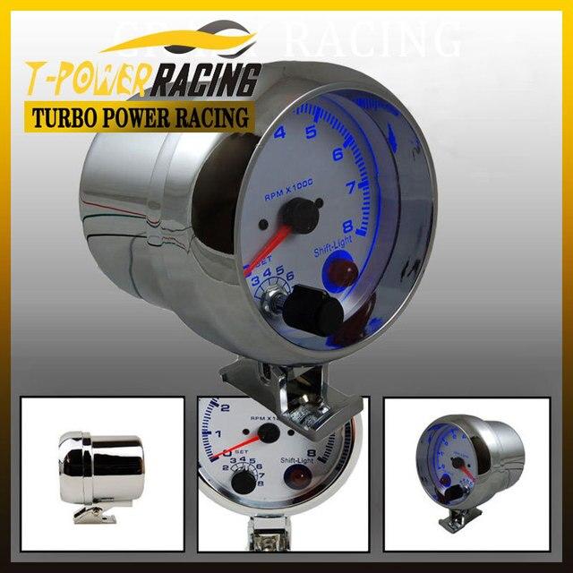 "3 3/4"" Universal  0-8000 rpm gauge with inter shift light Chorme Color/Auto gauge/Tachometer/Car meter/Racing meterYC100141"
