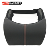 New Design Memory Form Car Neck Pillow Heardrest Auto Lumbar Support High Quality Pu Leather Adjustable