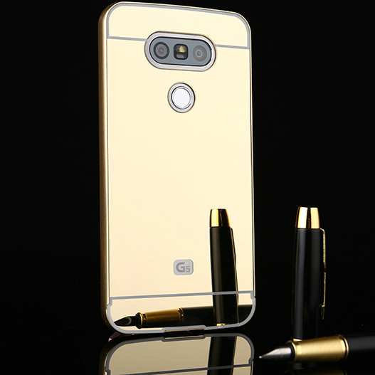 Luxury Ultra Slim Aluminum Metal Frame Acrylic Mirror Back Cover <font><b>Case</b></font> For <font><b>LG</b></font> <font><b>G5</b></font> H850 VS987 H820 LS992 H830 US992 <font><b>Phone</b></font> <font><b>Case</b></font> JZ2