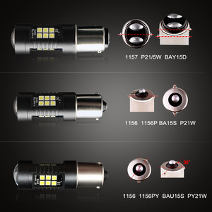 Image 5 - Ampoules automobiles, 2 pièces, 1156 LED BA15S P21W LED BAU15S PY21W BAY15D 1157 P21/5W R5W 21 SMD 3030, ampoules automobiles, LED 12V   24V