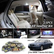 цена на 23Pcs White Canbus led Car interior lights Package Kit for BMW 7 Series E65 E66 2003 2004 2005 2006 2007 2008 led interior light
