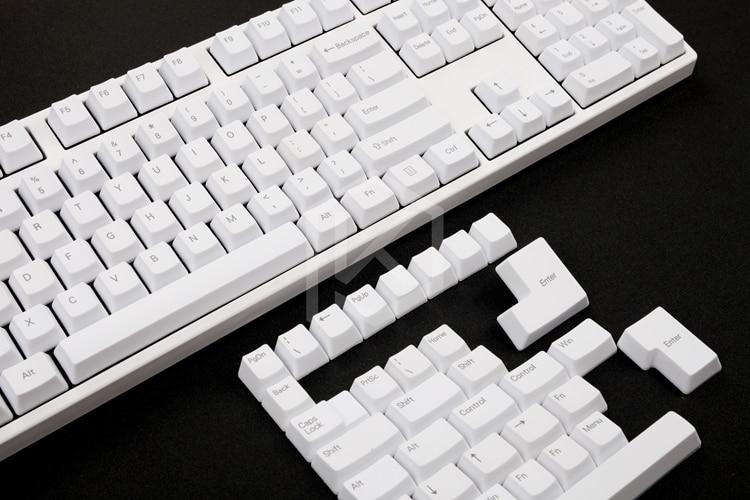 Pbt トッププリント PBT キーキャップ oem プロファイルレーザーエッチングトッププリント伝説白色 gh60 87 104 108 xd64 xd84 iso  グループ上の パソコン & オフィス からの キーボード の中 3
