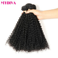 Mydiva Mongolian Kinky Curly Hair Weave Non Remy Human Hair Extensions 8 To 28 Inch Natural Color Hair 3 Bundles Deals Per Lot