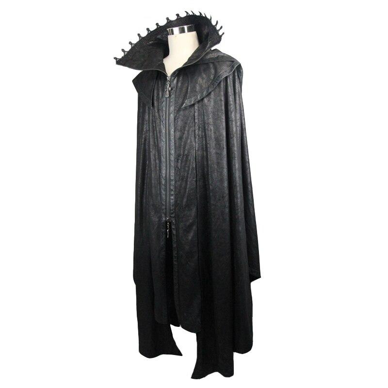 Diablo de moda Steampunk durante mucho tiempo, las mujeres capa abrigos Punk gótico Halloween Conde vampiro murciélago capa estilo traje Casual abrigos - 5