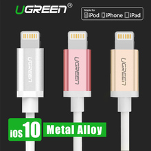 Ugreen Metal Lightning for iPhone Cable 2.1A USB Charger Data Cable for iPhone 7 7 Plus 6S 6Plus 5 5S iPad USB Charging Cable