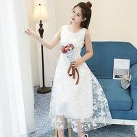 Mozhini biały lato american apparel midi długi tulle dress kobiety kiecka elastyczny sexy dress jesień lace dress fashion dress