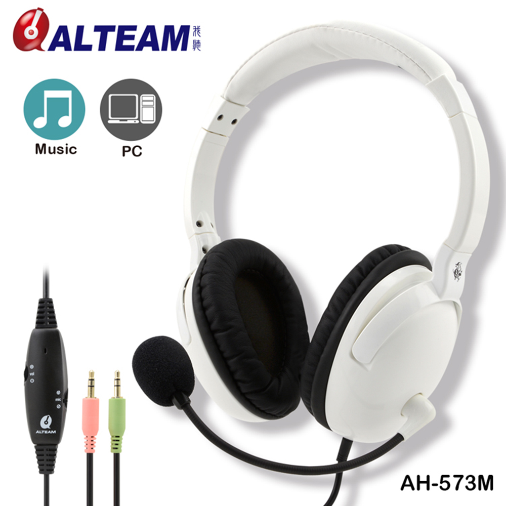 Best Portable On Ear Wired Fold Flat Computer Game Gaming Headphone Headset 2*3.5mm AUX with Mic Remote Volume Control for PC