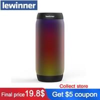 lewinner colorful Waterproof LED Portable Bluetooth Speaker BQ 615 Wireless Super Bass Mini Speaker with Flashing Lights FM