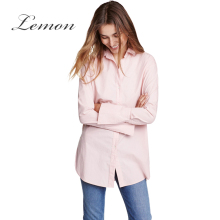 Lemon Pink Sweet Women Blouse Shirt White Casual Loose Basic Female Shirt Top Blue Brief Single Breasted Chic Blouse