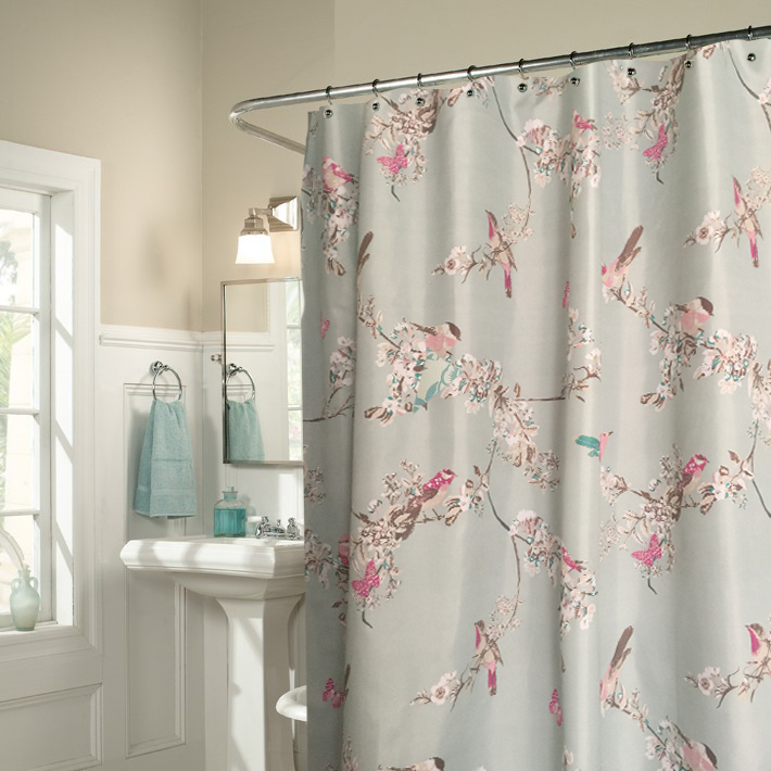 Fashion vintage elegant bathroom shower curtain bathroom