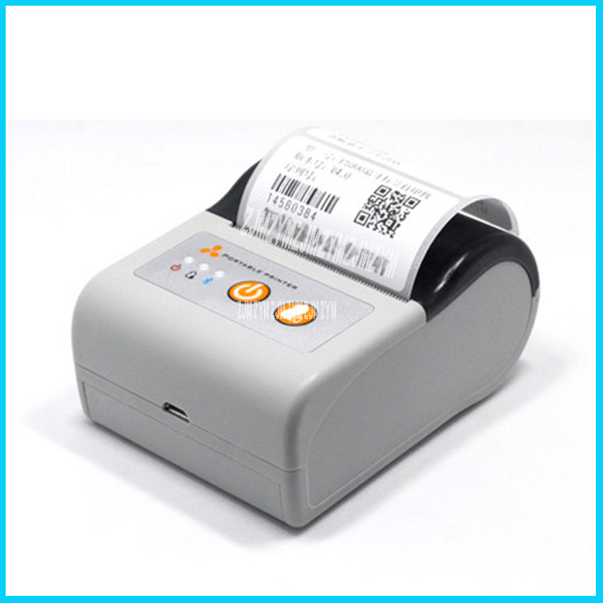 P5900 110- 220V Thermal printer portable self-adhesive label machine clothing tag supermarket price take-away Bluetooth printer new hot thermal printer 5890t supermarket takeaway intelligent bluetooth food and beverage printer 90mm s 57 5 0 5mm 220v