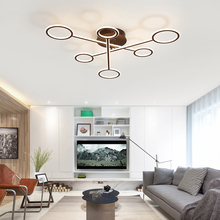 Modern Led Ceiling Lights for Living Room Surface Mounted Lamp Square with Remote Control Lighting