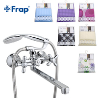Frap New Arrival Combination Bathroom Faucets with Curtain 30cm Long Water Outlet Tube Move Cold and Hot Water Mixer Tap F2225YL