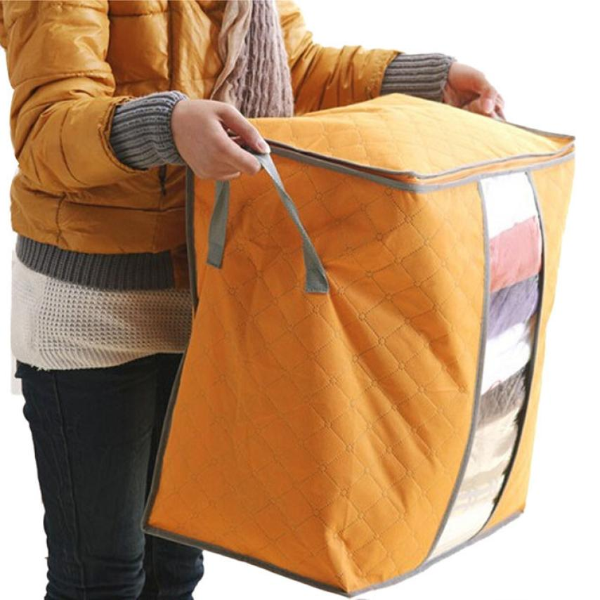 2017 Hot Sale Foldable Storage Box Portable Organizer Non Woven Clothing Pouch Holder Blanket Pillow Underbed Storage Bag Box