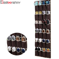 BalleenShiny 24 Pockets Non Woven Hanging Storage Bag Behind Doors Space Saver Shoes Sorting Organizer