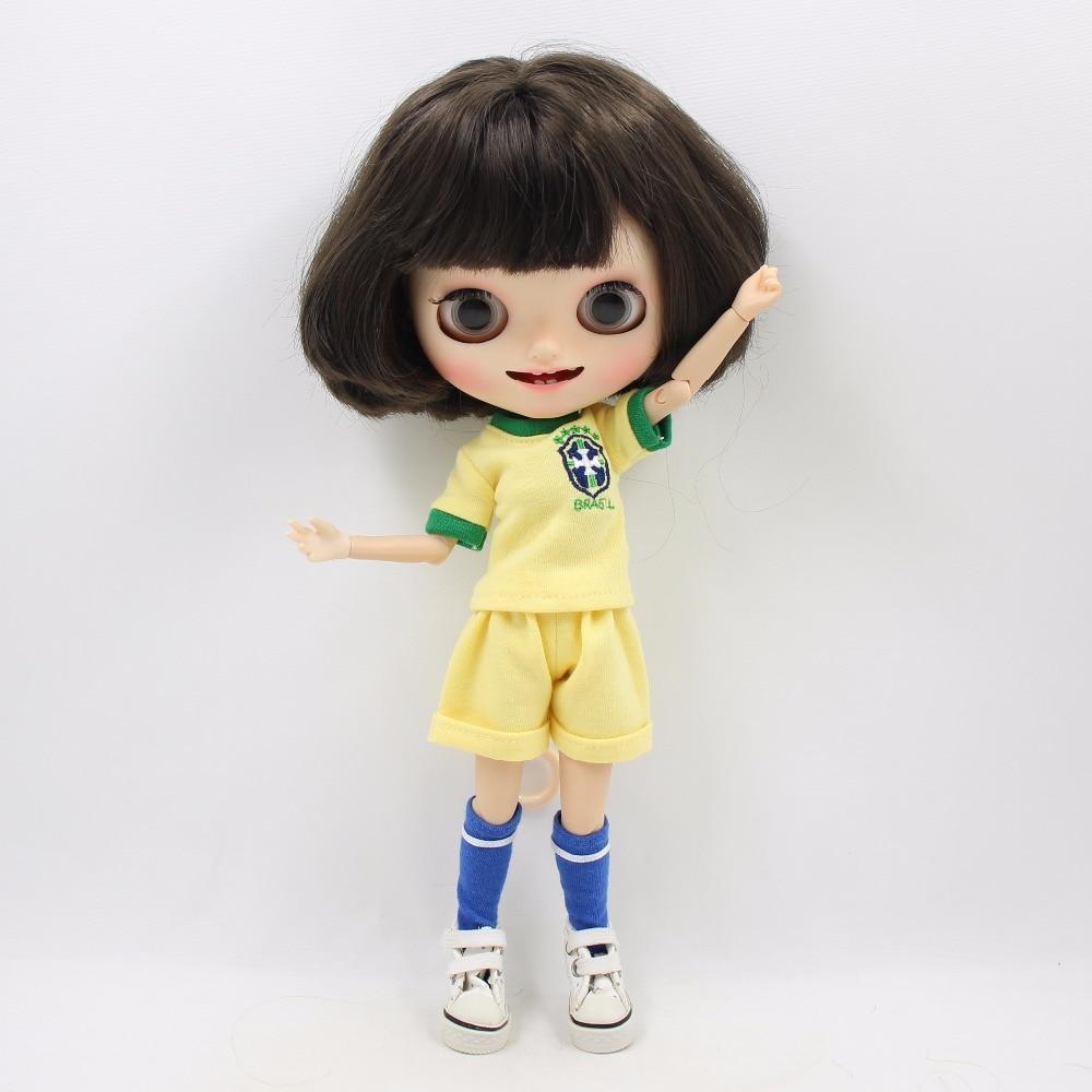 Neo Blythe Doll Brasil Football Team Uniform 3