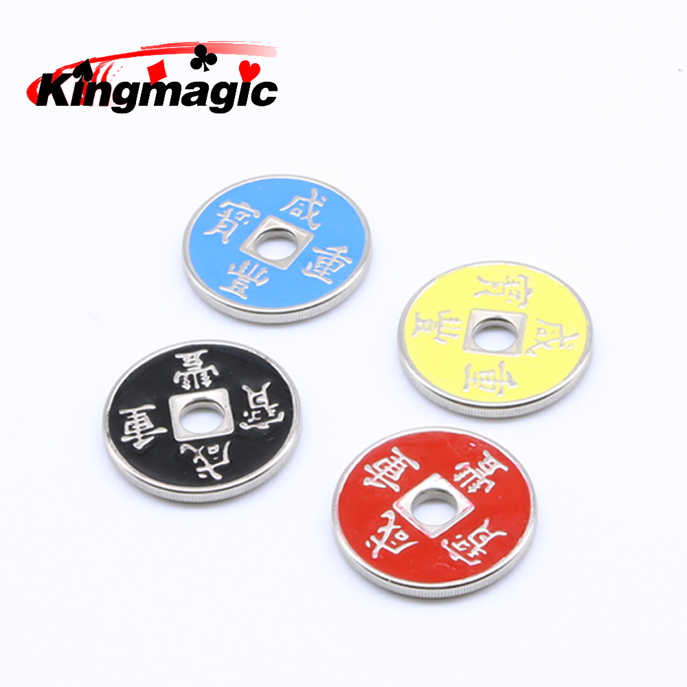 Chinese Coin Magic Tricks Magician Gimmick Close Up Mentalism Magic Props Free Shipping free shipping magic tricks close up color pen prediction close up performance