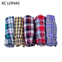 10pcs Lot Classic Plaid Men Boxer Shorts Mens Underwear Trunks Cotton Cuecas Boxers For Male Woven