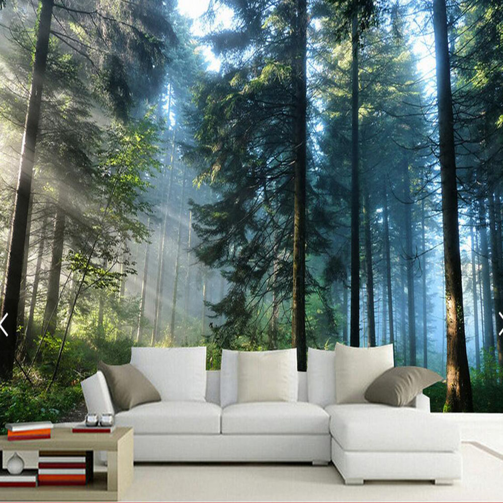 3d sun tree wallpaper walls hd photo mural washable for Tree wallpaper for walls