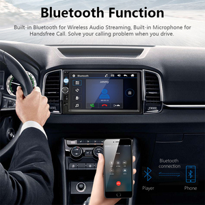 """Image 3 - Jansite 7"""" FHD 1080P Car Radio MP5 player Digital Touch screen Bluetooth Mirror link two din car autoradio Support Backup camera"""