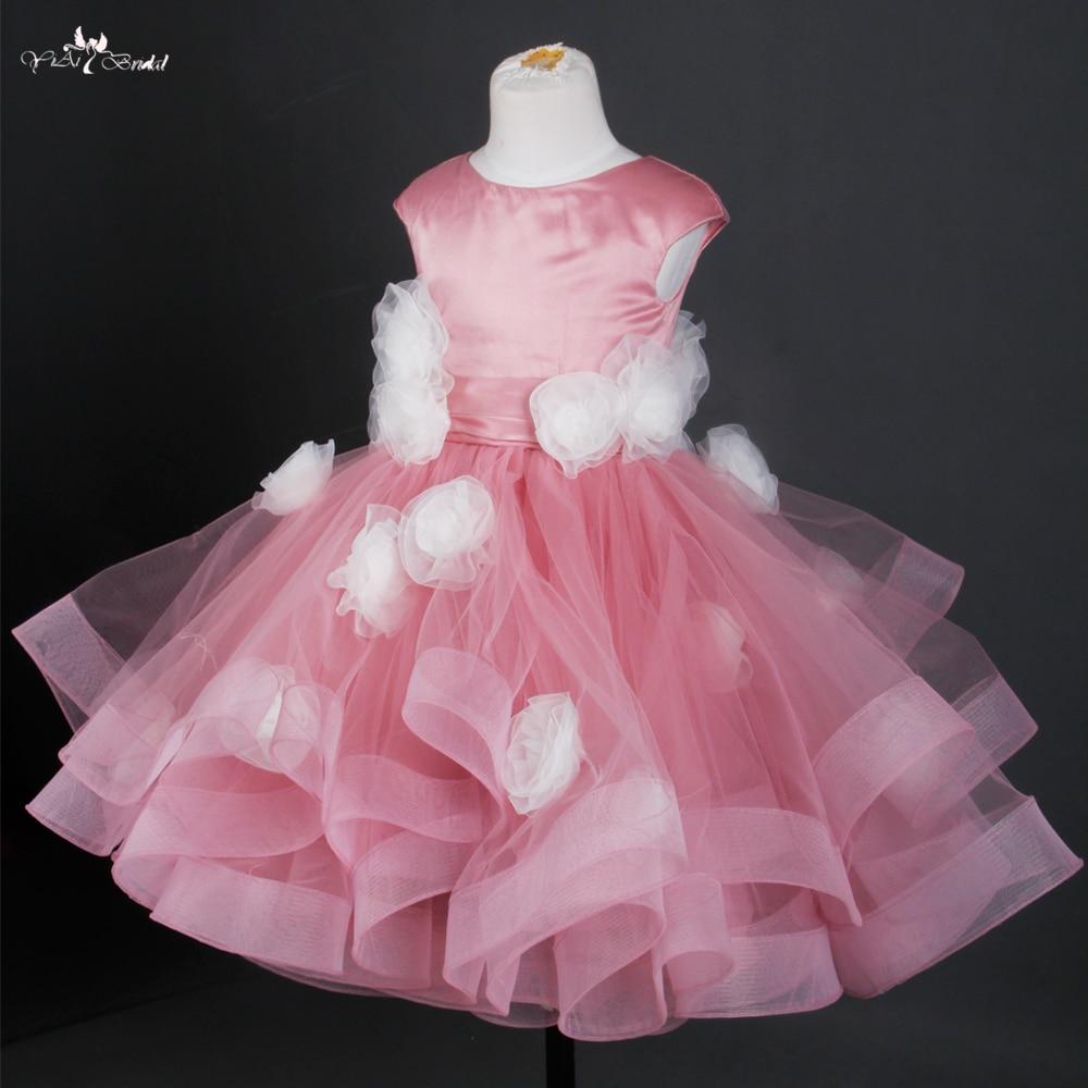 Fg20 Dusty Rose Vestido De Daminha Pageant Dresses For Girls Glitz