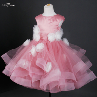 FG20 Dusty Rose Vestido De Daminha Pageant Dresses For Girls Glitz Spring Pretty Flower Girl Dresses