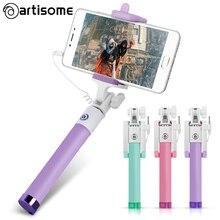 Artisome Универсальный селфи палка для iPhone 5 5S 6 6 S Plus проводной мини пало палки селфи монопод Self Portrait смартфон Android