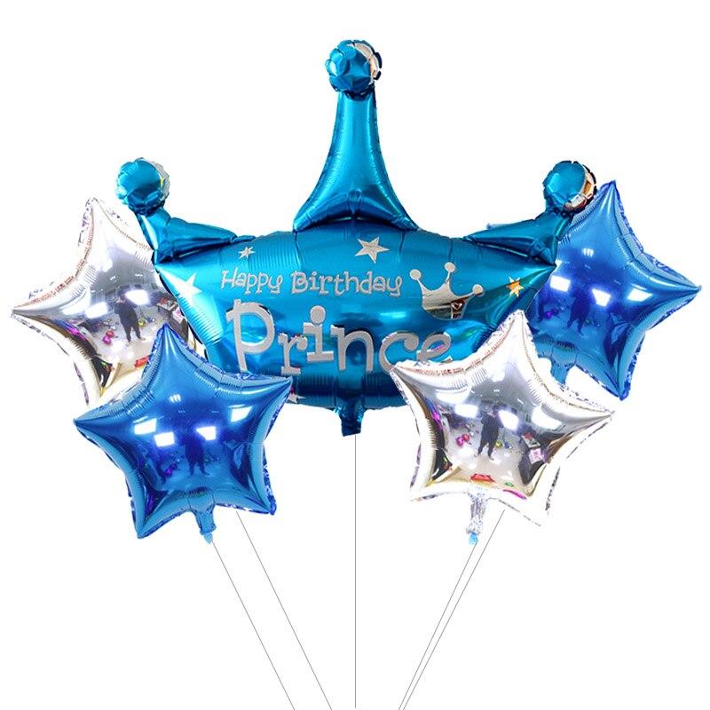 5 шт./лот, воздушные мини-шары в форме короны, вечерние воздушные шары на день рождения, украшения для детей, корона принцессы, Globos, для малень...