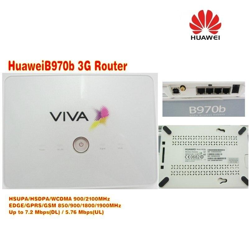 Free shipping Unlocked Huawei B970b Original 3G wireless Router unlocked цена
