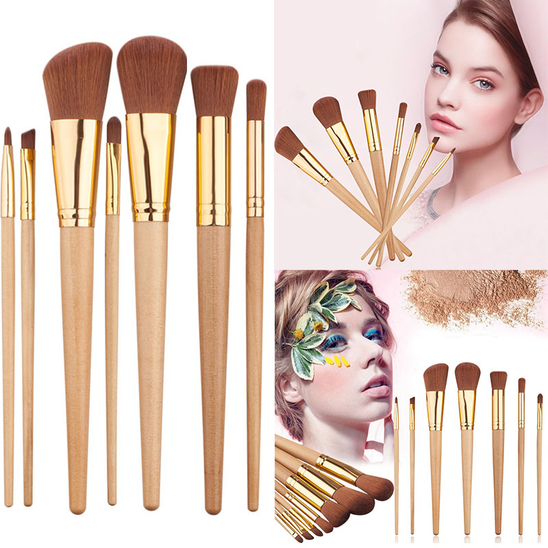 7 Pcs Hot Sale Make Up Brush Tools Kits For Eye Shadow Palette Cosmetic Brushes Professional Makeup Brushes Tools Set M03444 new arrived professional 10pcs makeup brush set cosmetic tools make up for you eye shadow bruse kit christmas gift