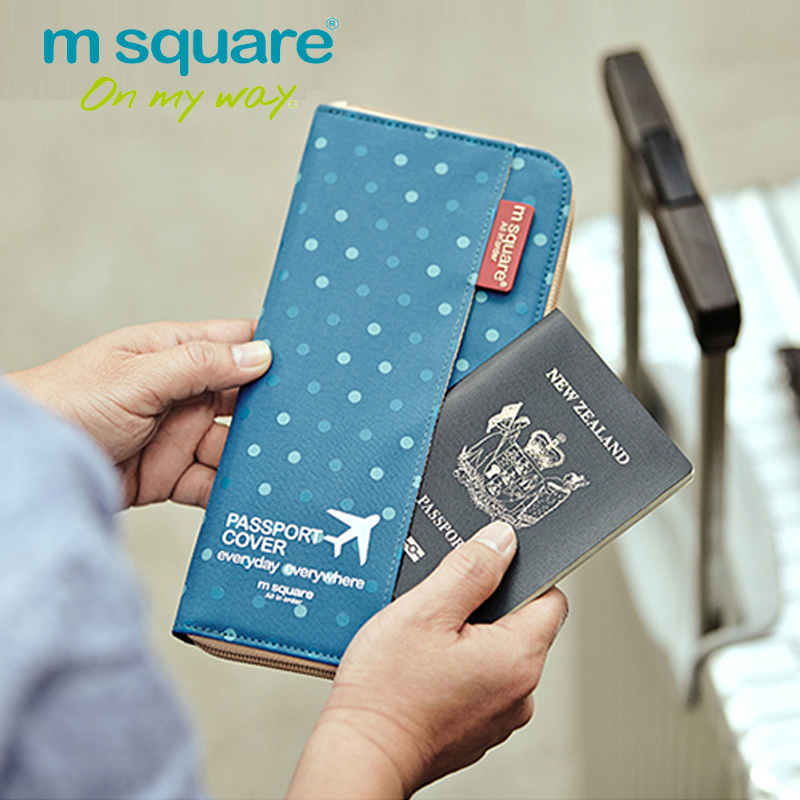 M Square Travel Card Holder Men Women Passport Cover ID Business Credit Card Wallet Organizer Purse Bag Case Passport Holders travel bag wallet purse document organizer zipped passport tickets id holder new