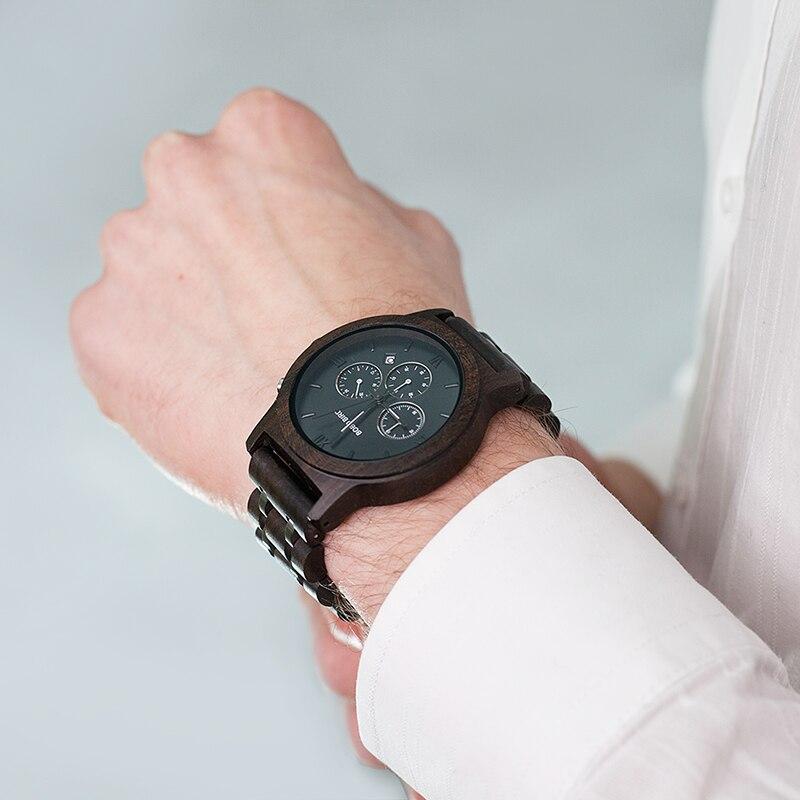 BOBO oiseau L-P19 haute qualité haut tendance marque de luxe Sport montres bois hommes Designer Quartz Orologio OEM Hombres Relojes - 6