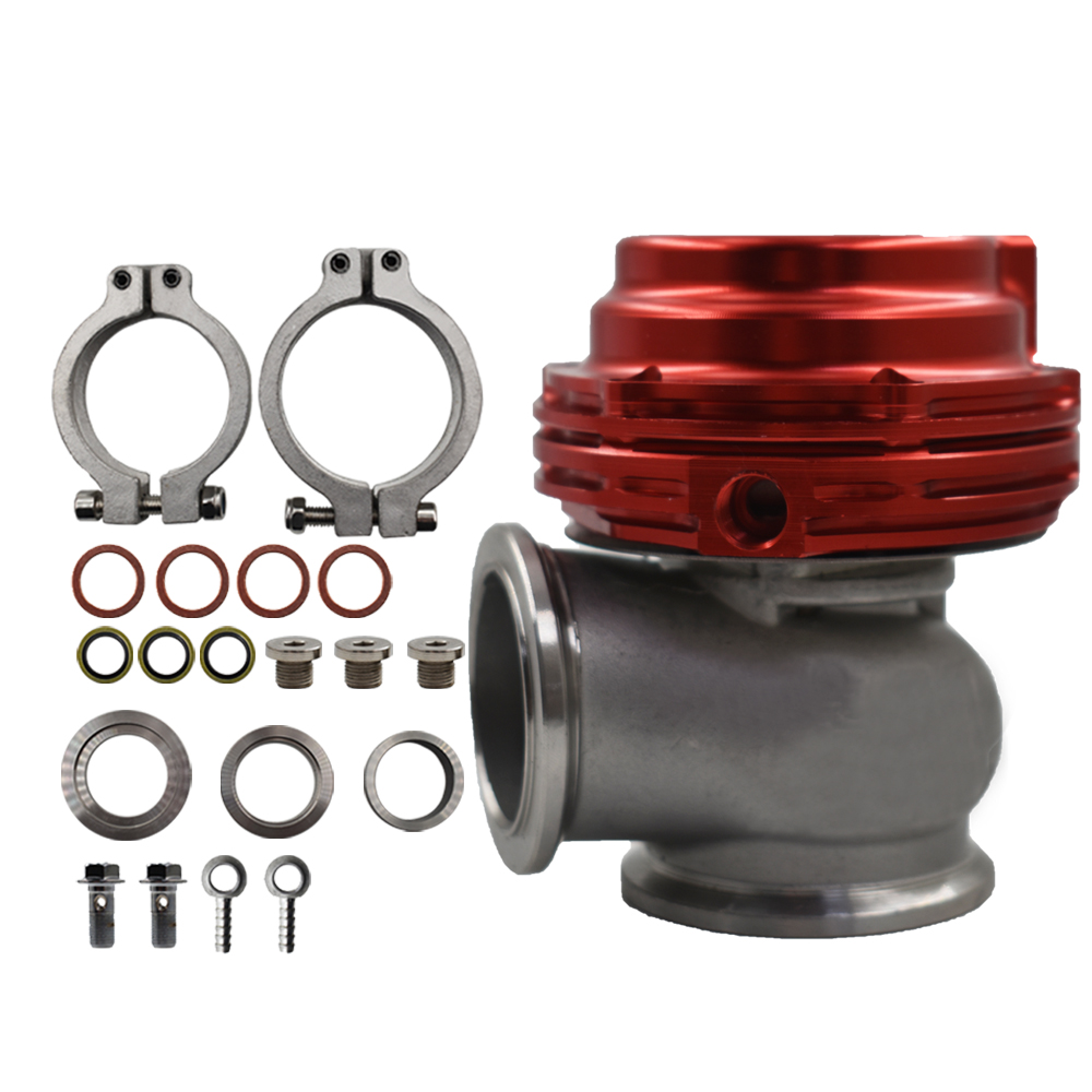 NEW WASTEGATE MVS 38mm RED With V-BAND AND FLANGES MV-S FREE SHIPPING