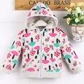 Alta qualidade frete grátis bebê menina com capuz cotton100 com bonito padrão de impressão C09