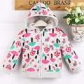 high quality free shipping baby girl hoody cotton100 with cute print pattern C09