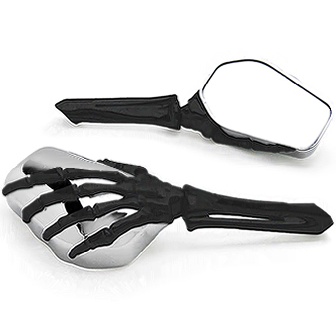 Brand new Skeleton Skull Hand Motorcycle Mirrors For Harley Davidson 125 175 250 350 750 1000
