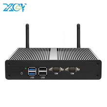 Mini PC sin ventilador Celeron N2830 Dual LAN Gigabit Windows 10 computadora de escritorio PC Celeron J1900 J1800 HDMI VGA WIFI micro MINIPC(China)